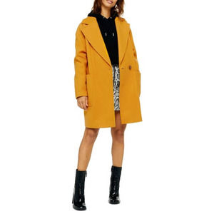 TOPSHOP Carly Coat Size 6 New With Tag Pockets